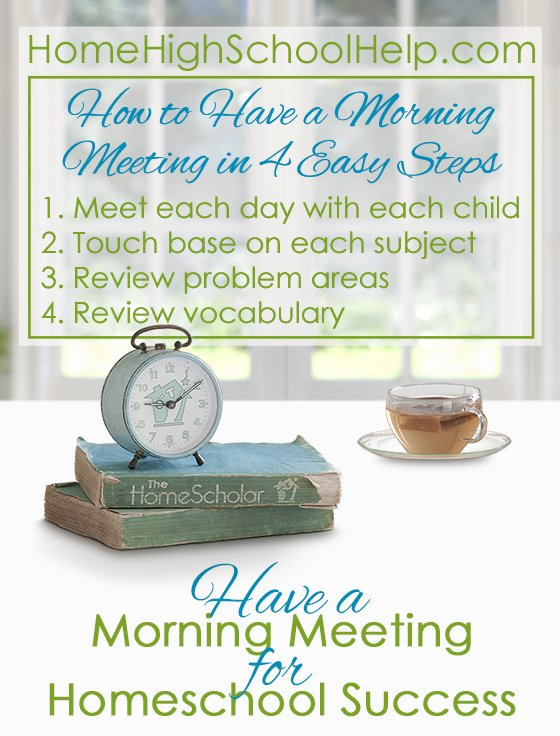 How to Have a Morning Meeting in 4 Easy Steps #Homeschool @TheHomeScholar