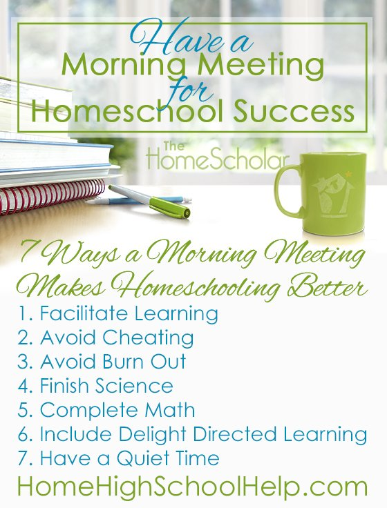 7 Ways a Morning Meeting Makes Homeschooling Better #Homeschool @TheHomeScholar