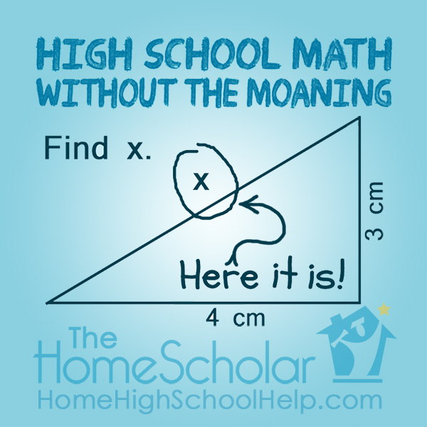 #Homeschool High School Math Without the Moaning @TheHomeScholar