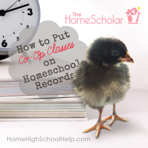 How to Put Co-Op Classes on #Homeschool Records @TheHomeScholar