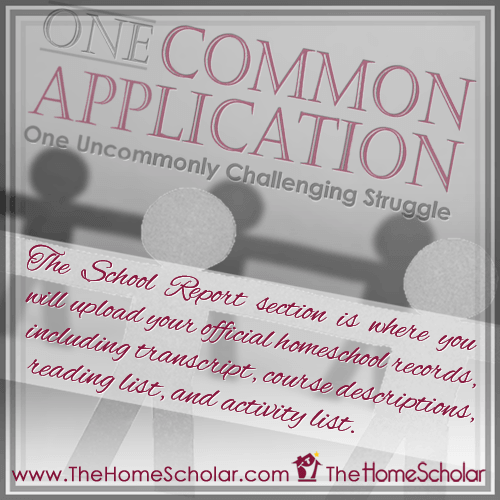 One Common Application: One Uncommonly Challenging Struggle @TheHomeScholar #Homeschool