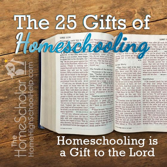 #Homeschooling is a gift that just keeps on giving!  @TheHomeScholar