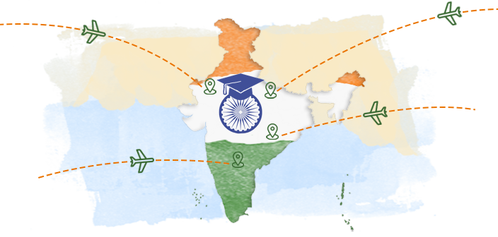 study abroad india map