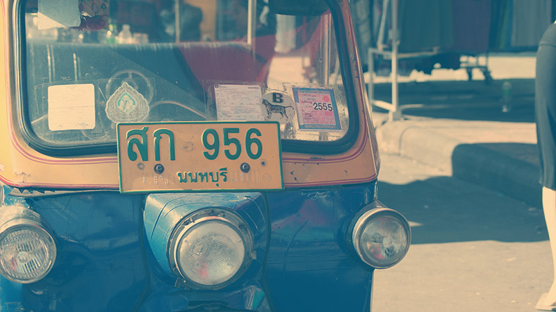 rickshaw or tuk tuk