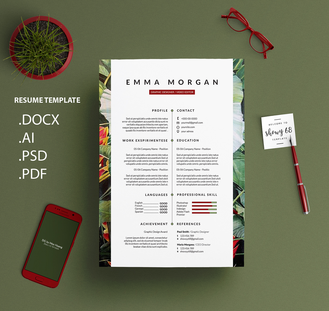 -Leo--Behance-Banana-Inflorescense-Resume-Template