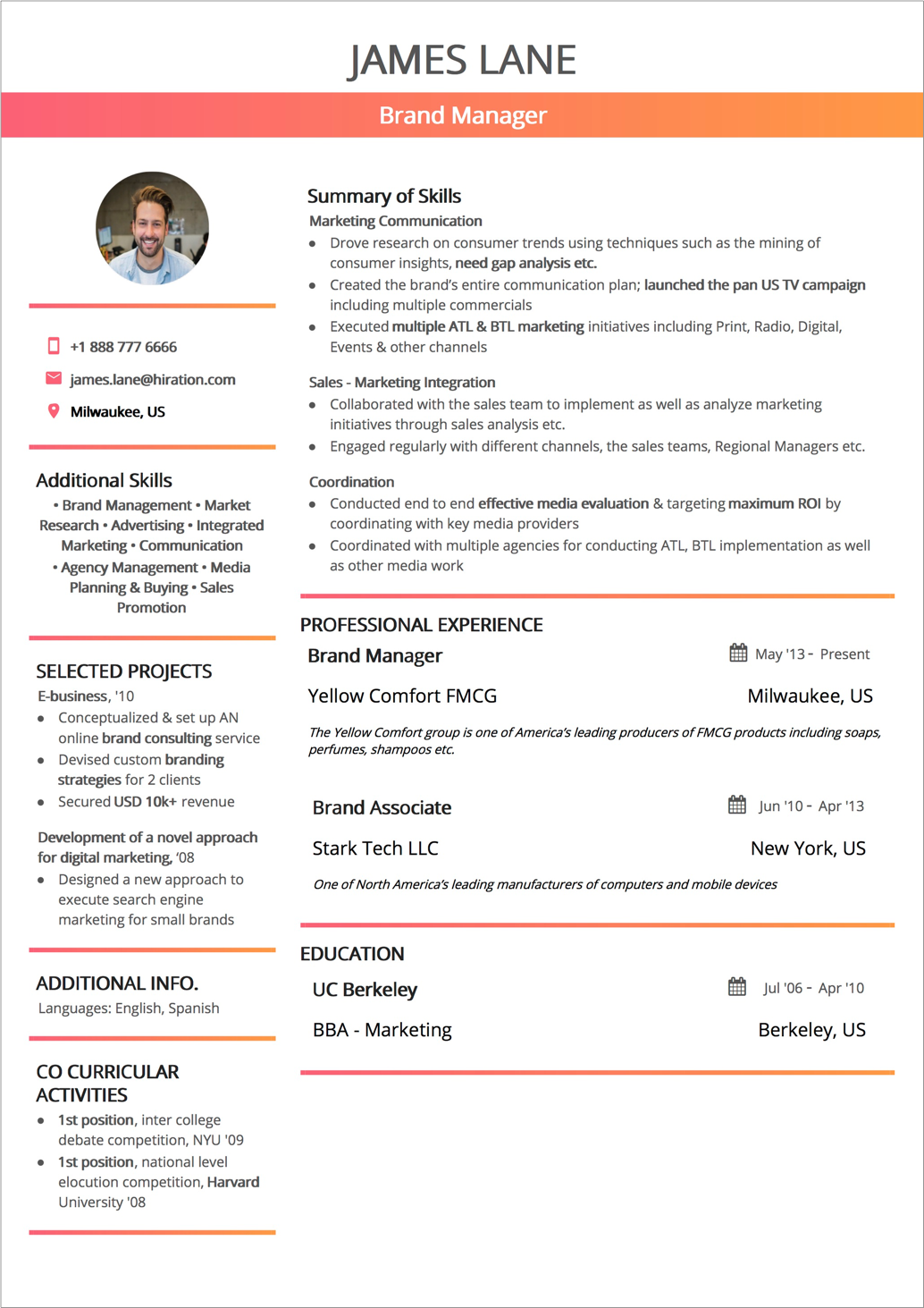 03 Functional Resume Format Business Analyst