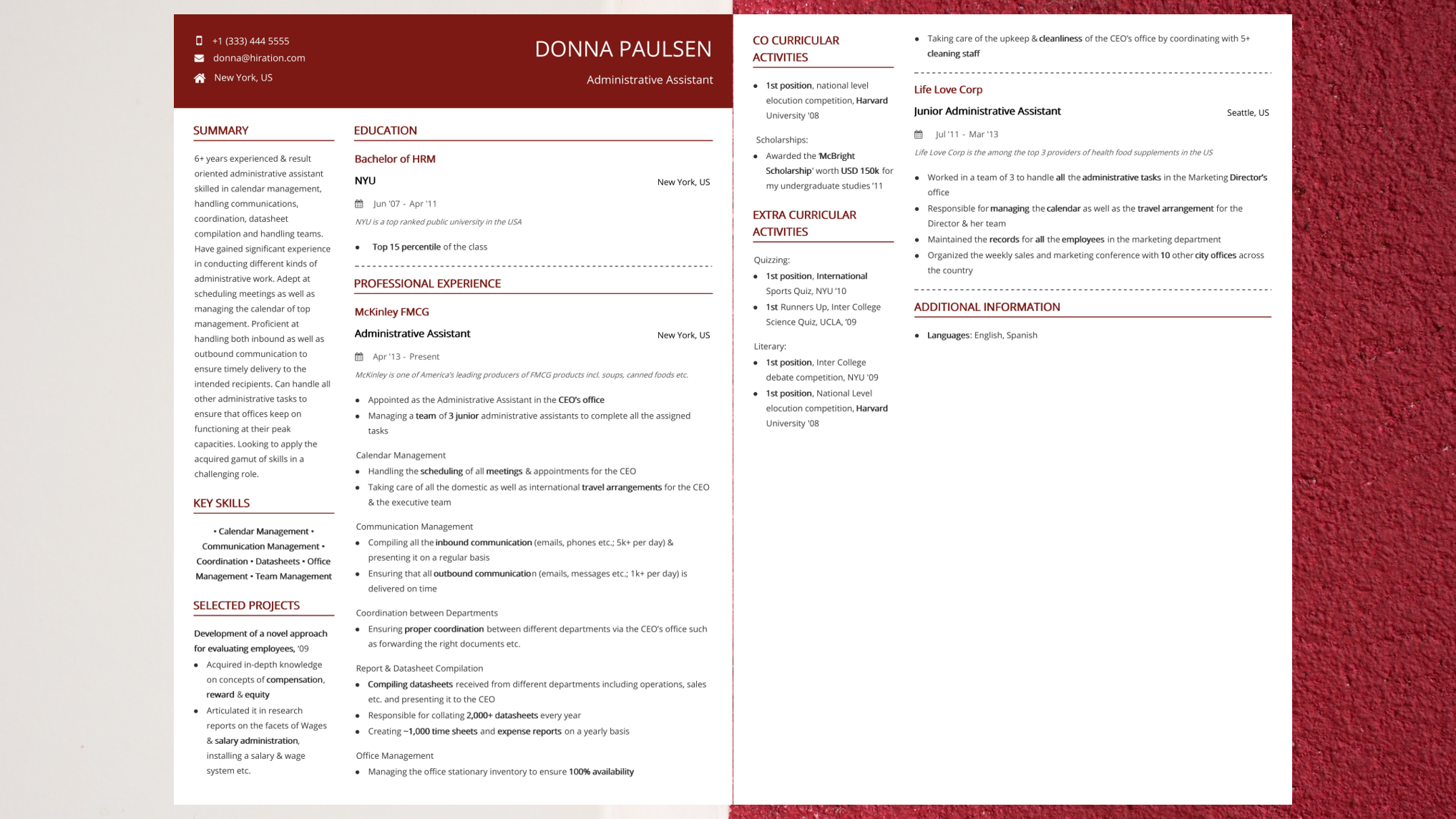 Administrative Assistant Resume 2019 Admin Resume Guide