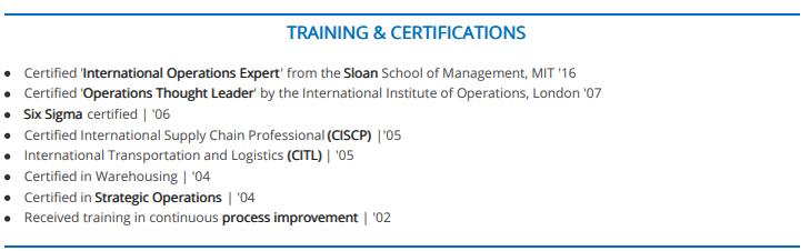 Certificationschronologicalresume