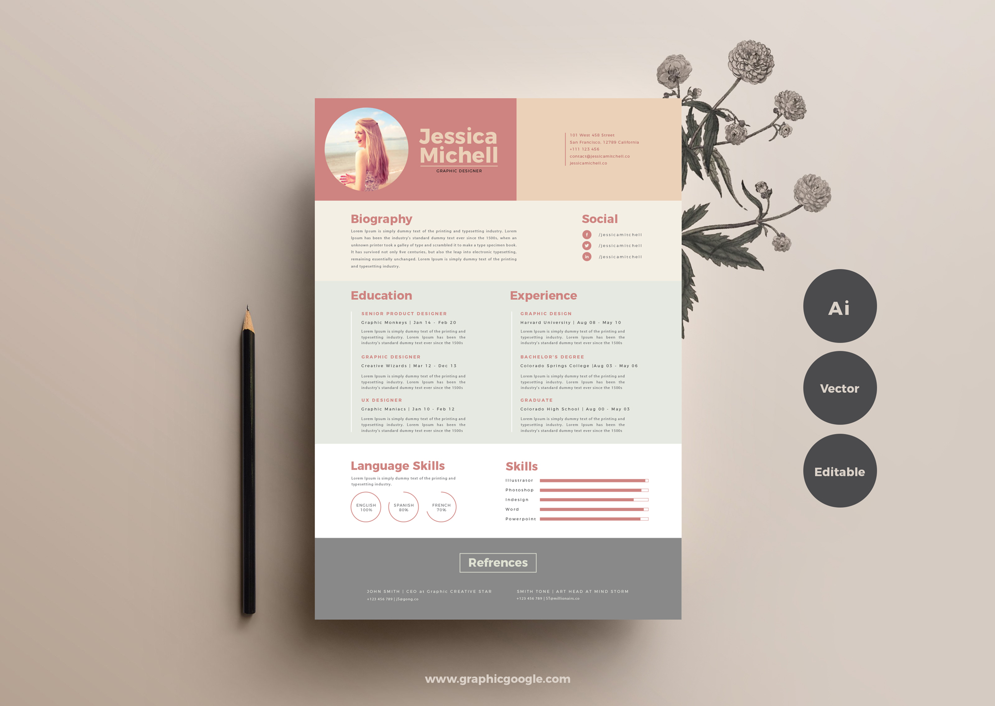 Free-Simple-Elegant-Resume-Template