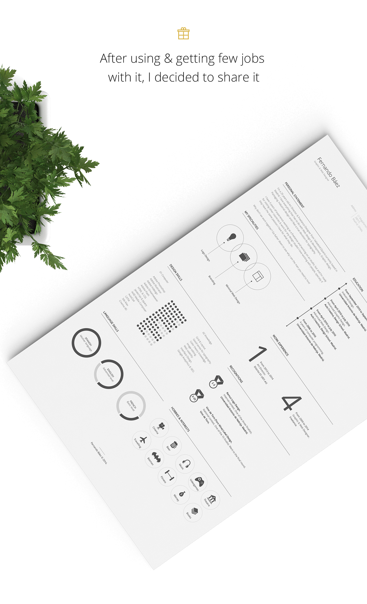 Infographicfreeresumetemplate