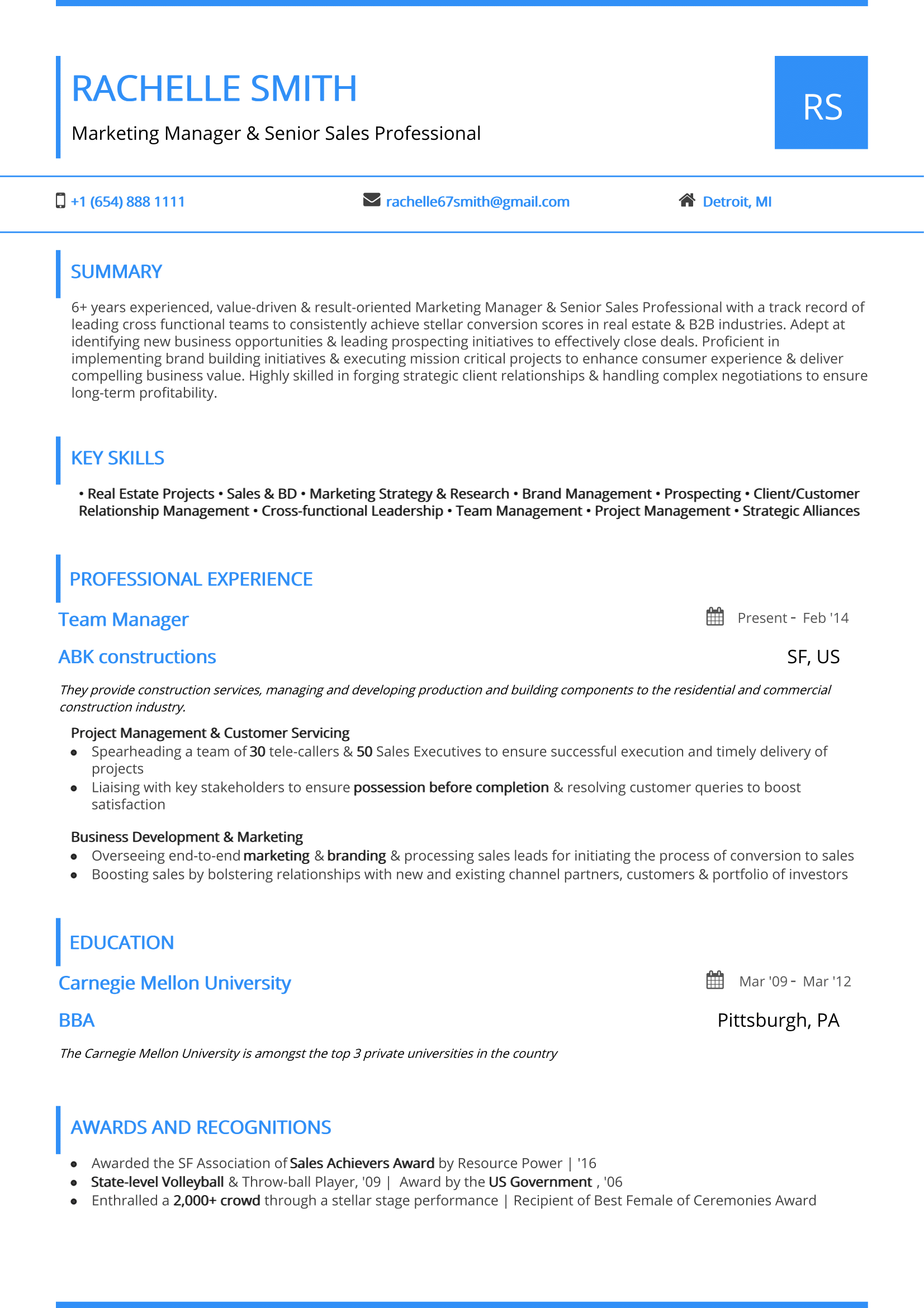 One Page Resume   Guide To One Page Resume Templates Examples