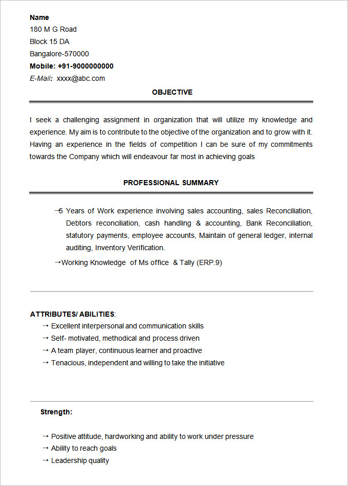 basic resume template  2019 list of 10  basic resume templates