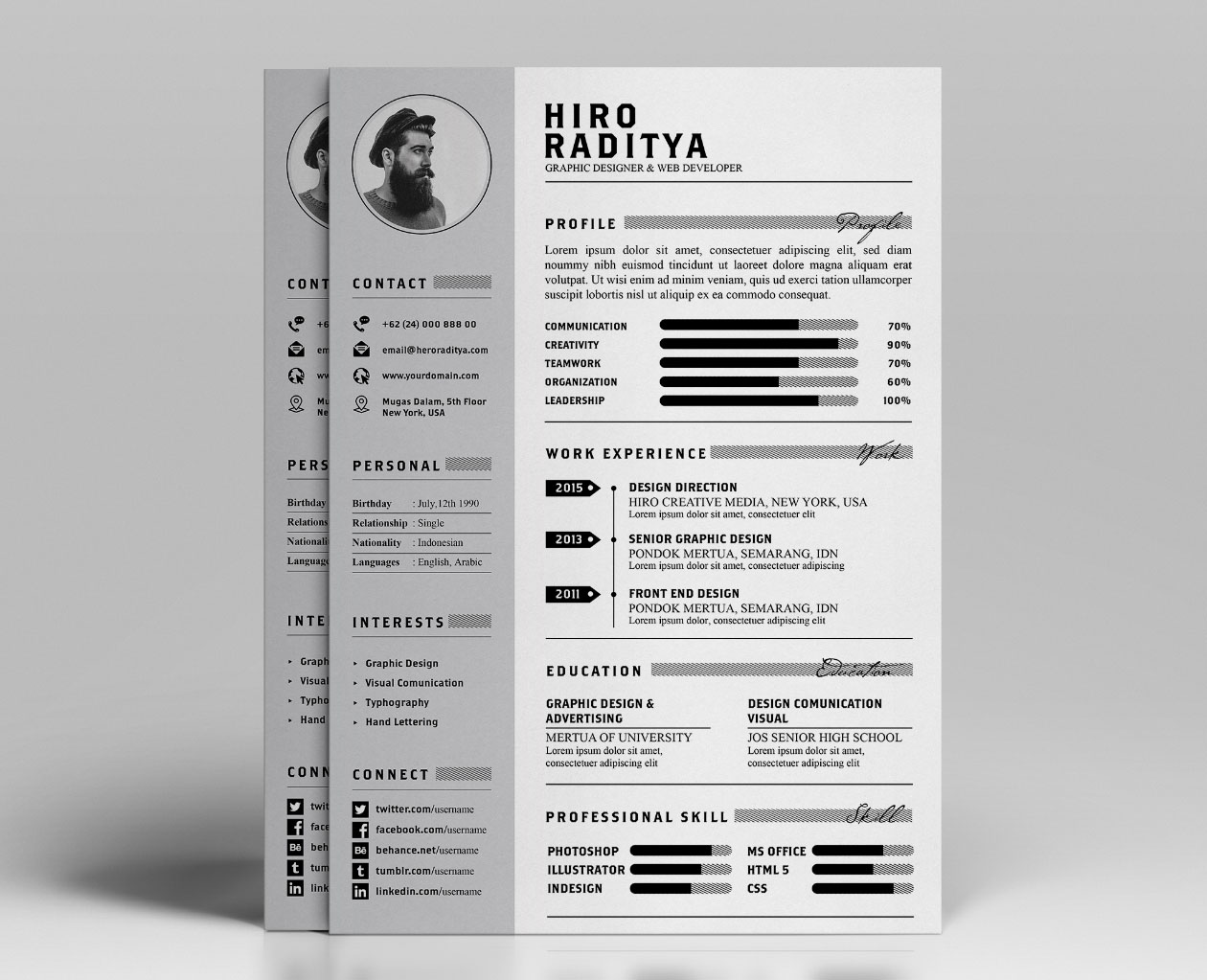 Unique Resume Template 2019 List Of 10 Templates