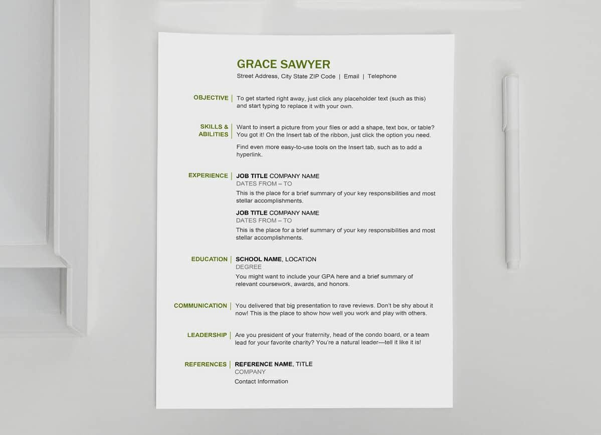 Basic Resume Template: 2019 List Of 10+ Basic Resume Templates