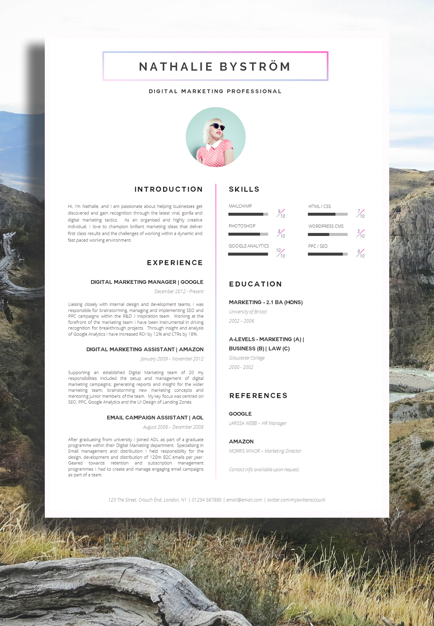 creative resume template  2020 list of 10  creative resume