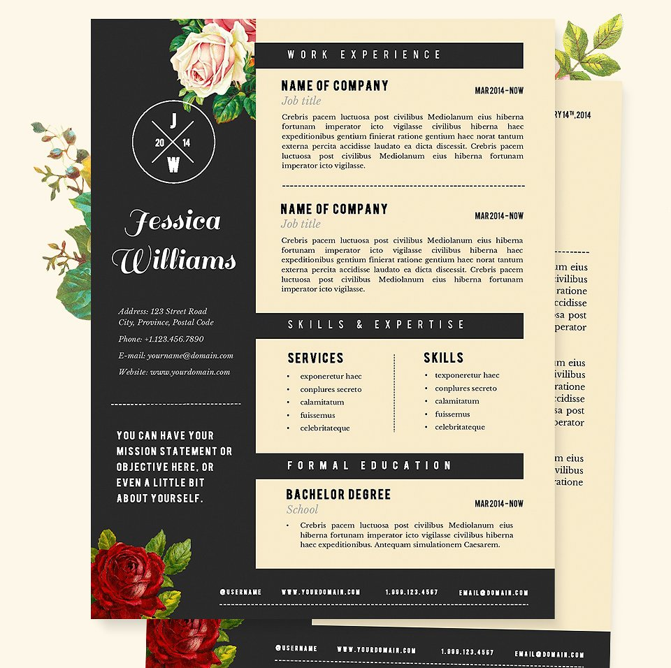 Creative Resume Template | Creative Resume Template 2019 List Of 10 Creative Resume Templates