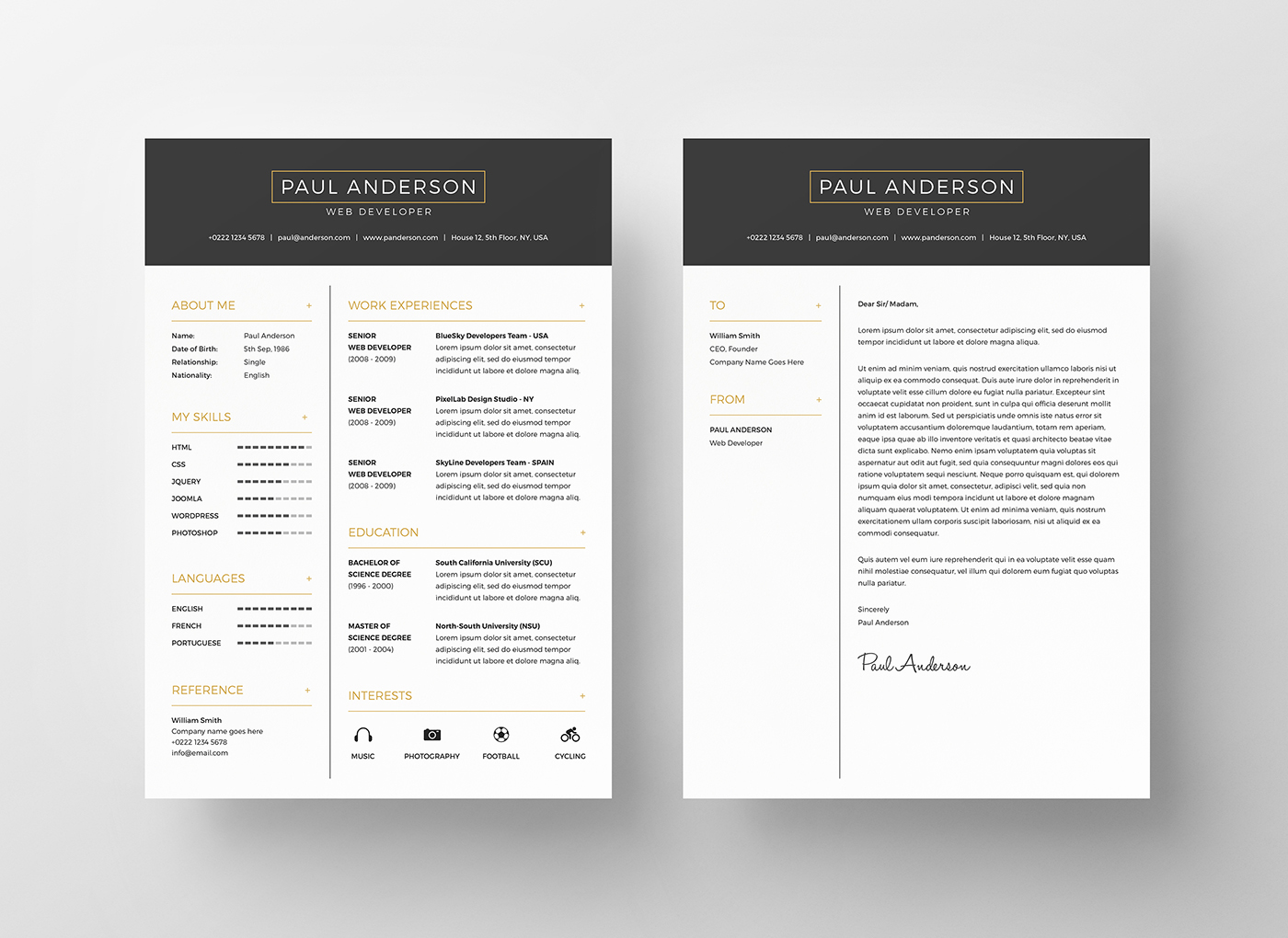 designer resume 2 - Interesting Resume Templates