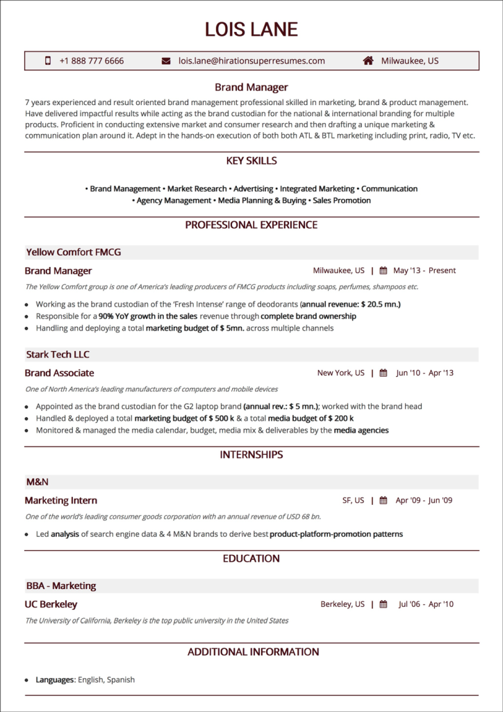 Chronological Resume The 2019 Guide To Reverse Chronological Resumes