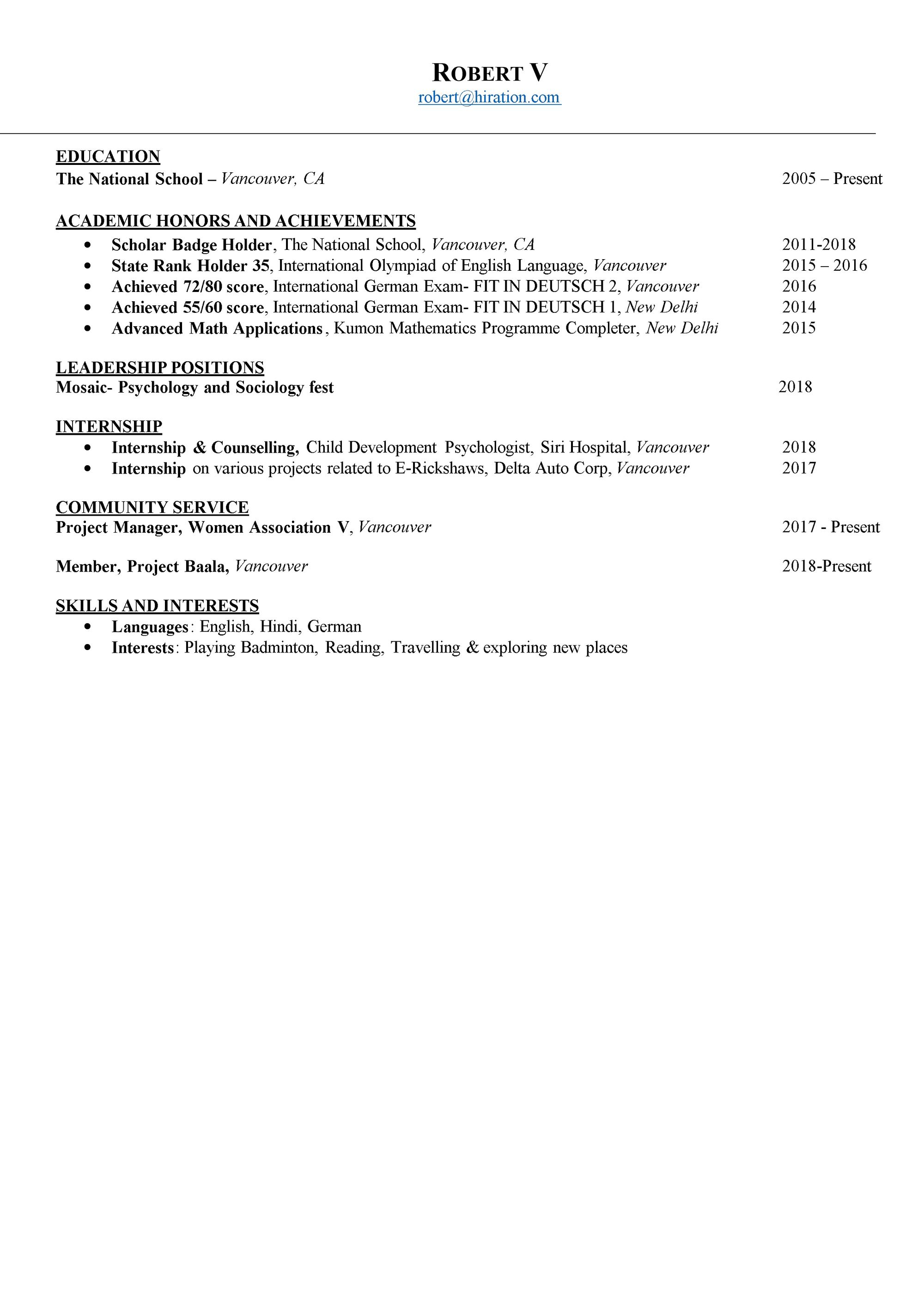 Student Resume 2019 Guide To College Student Resume