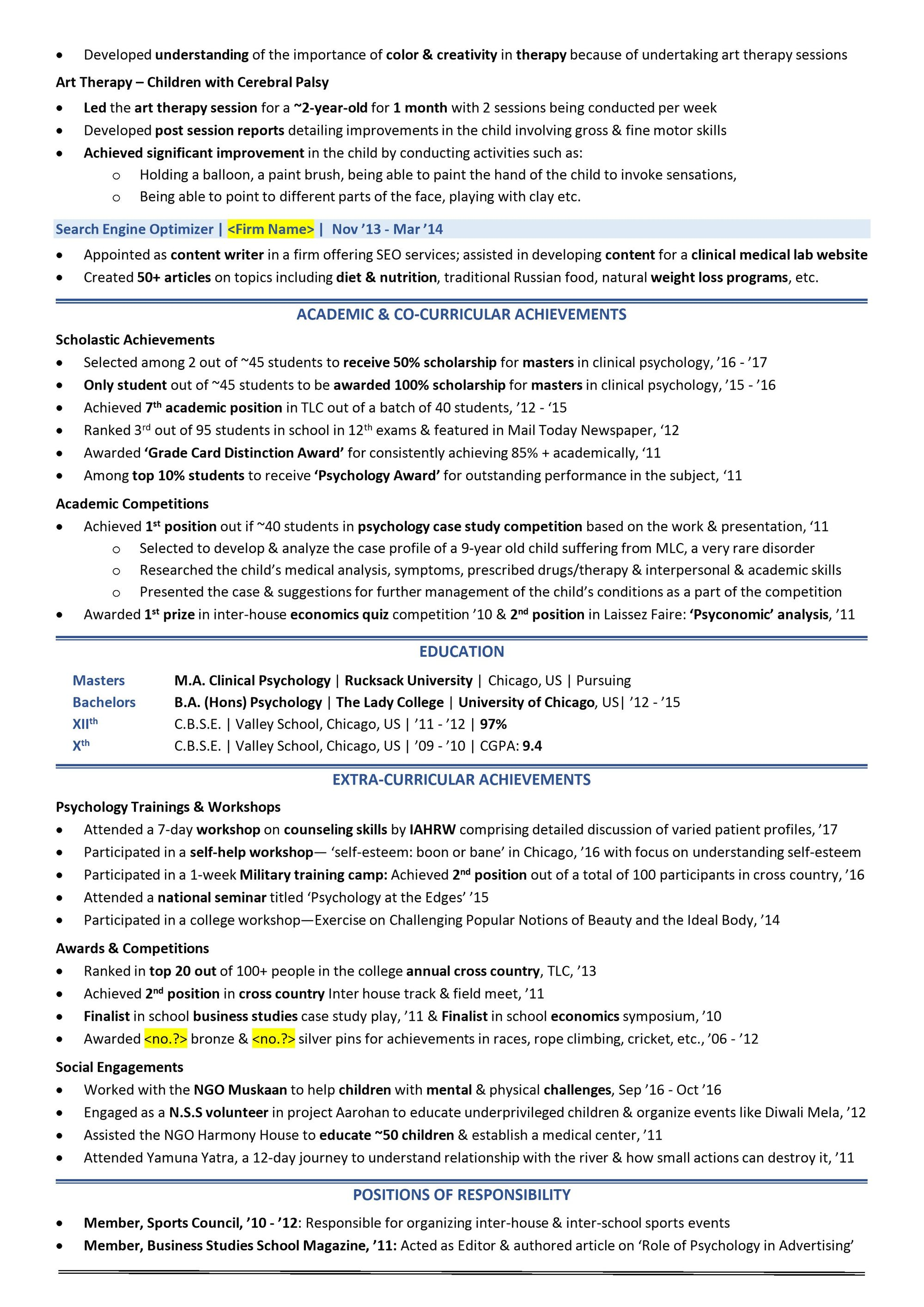 scholarship resume  2020 guide with scholarship examples  u0026 samples