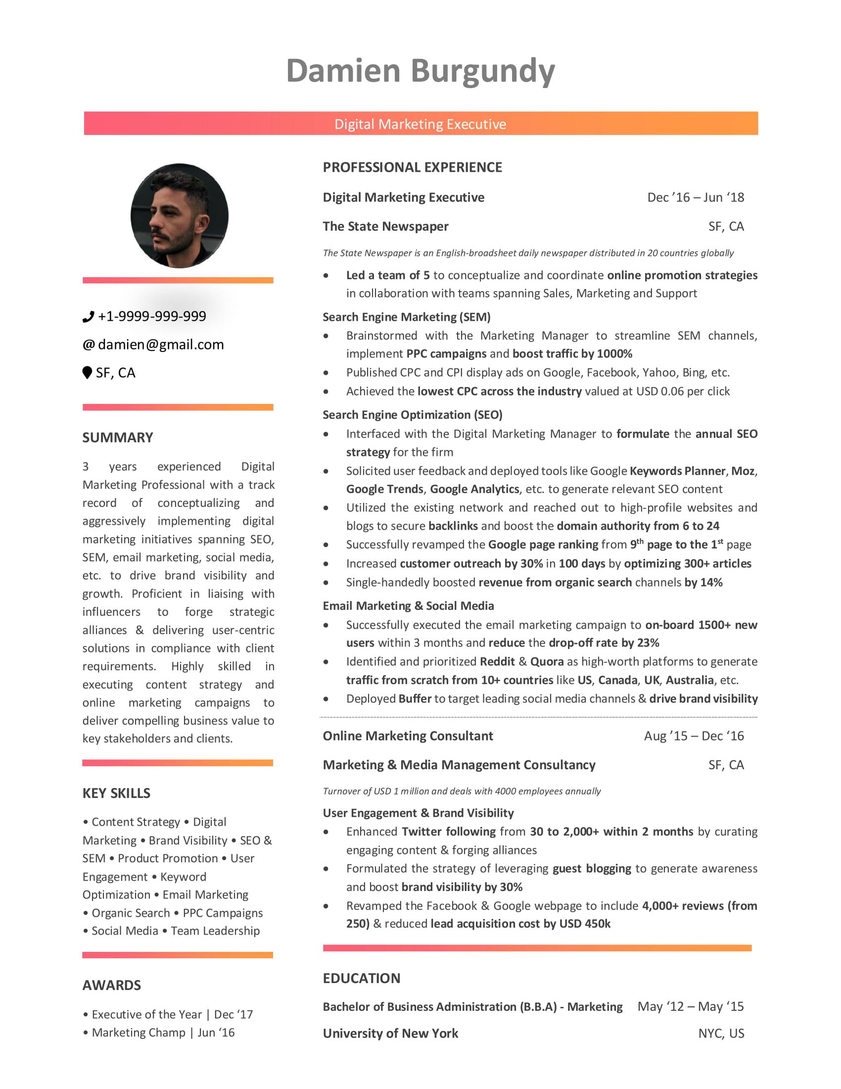 digital marketing resume  10