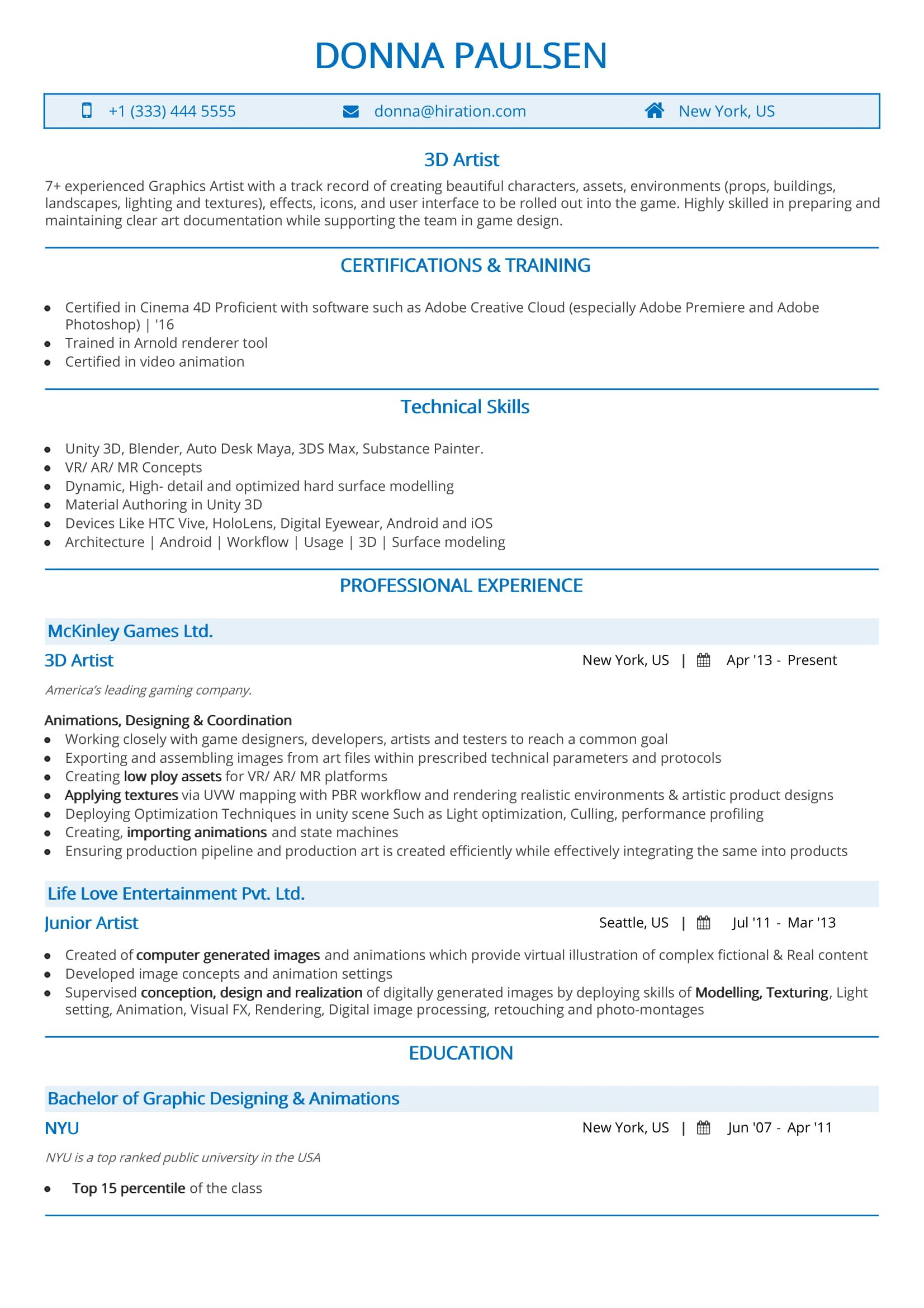 artist resume  the 2019 guide to art resume  with samples  u0026 examples