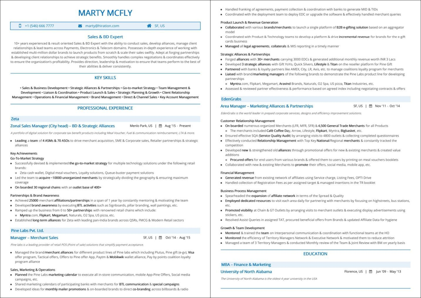 best sales resume  top 10 best sales resume templates  2020 samples
