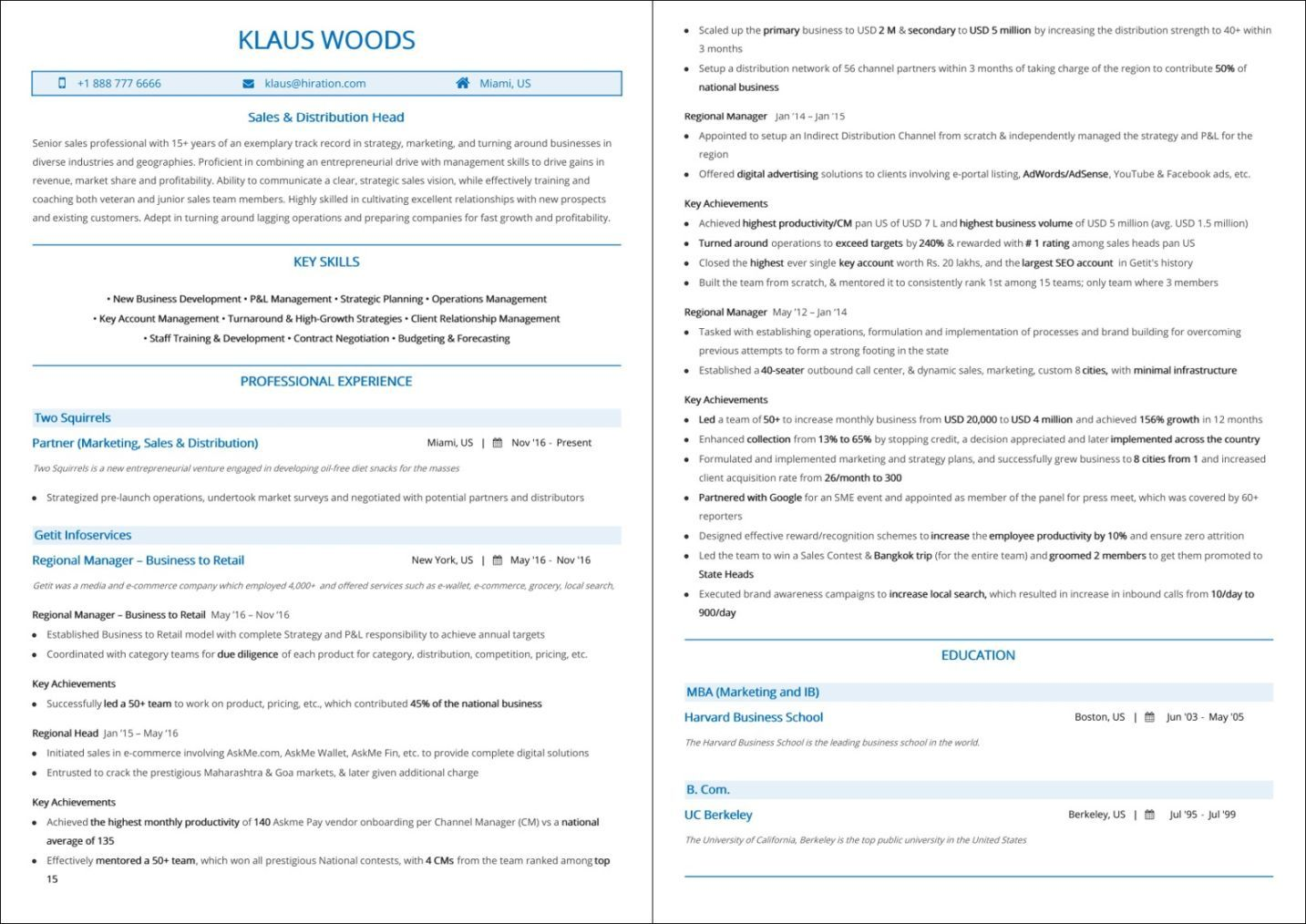 Best Sales Resume: Top 10 Best Sales Resume Templates [2019