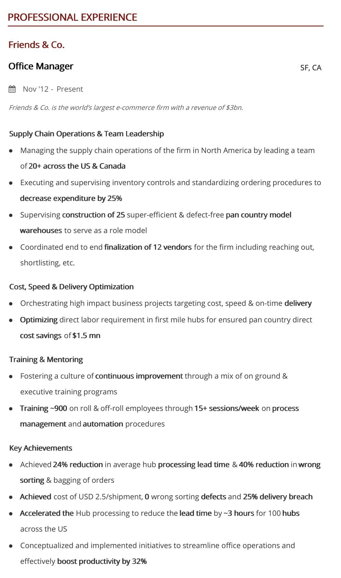 office manager resume  a 10