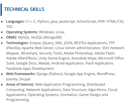 Computer Skills For Resume The 2019 Guide 100 Examples Samples