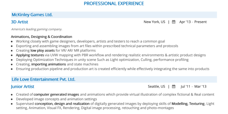Artist Resume The 2020 Guide To Art Resume With Samples Examples