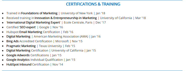 the 2019 guide to listing certifications on a resume