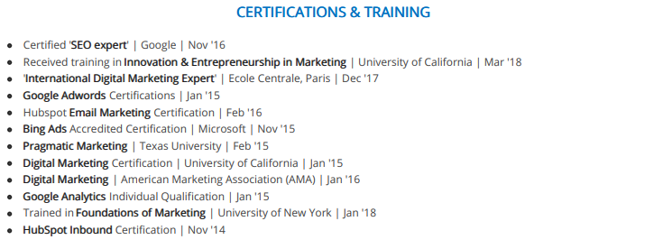 Incorrect Order Of Certifications On A Resume