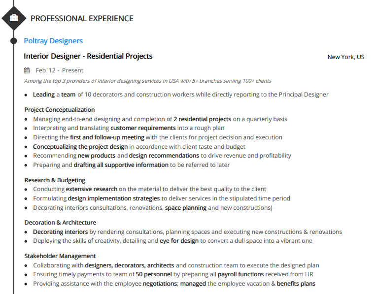 interior design resume  write your 2019 interior designer resume today