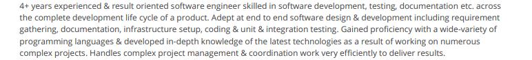 Software-Engineer-Summary