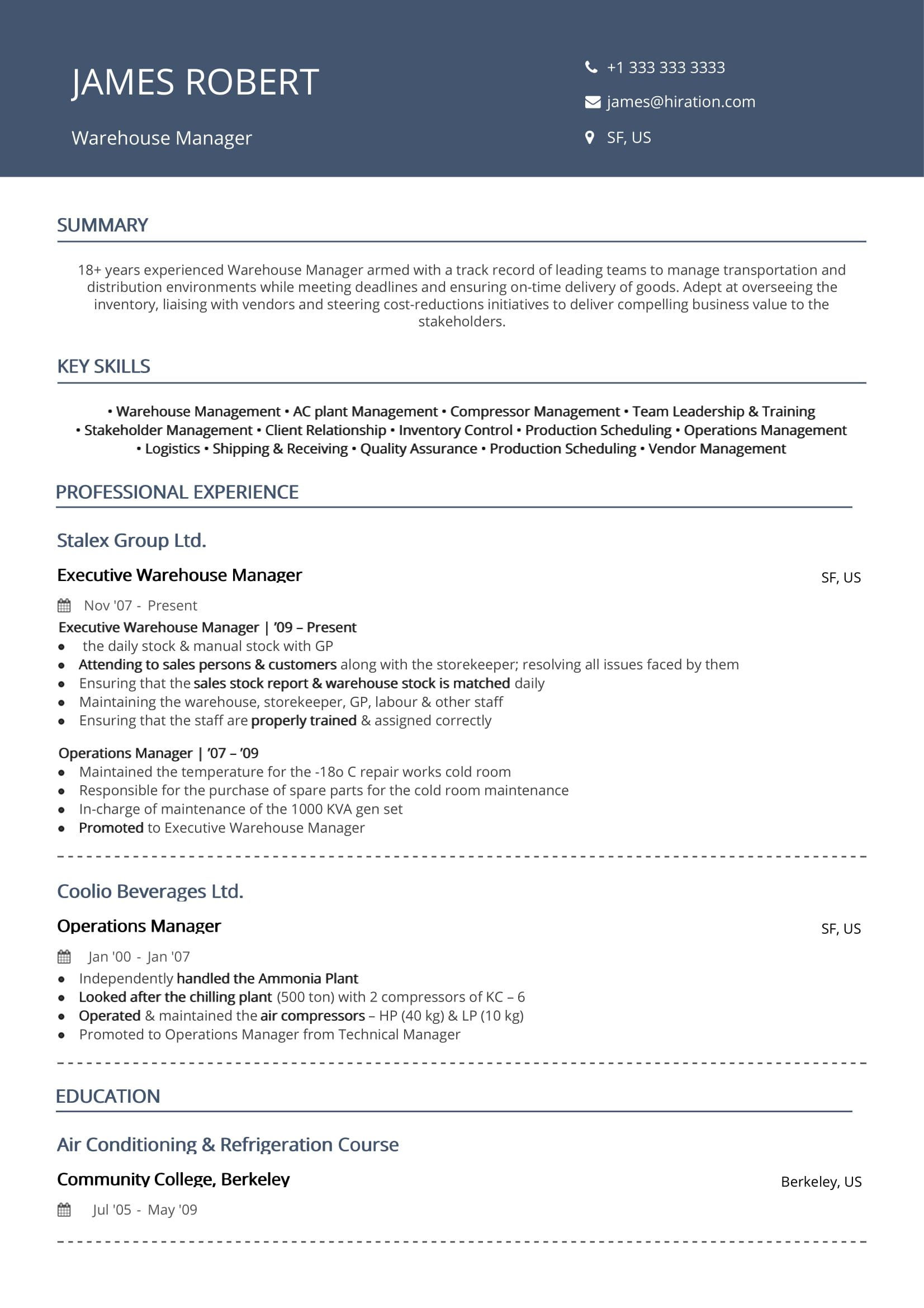 warehouse resume  2019 guide to warehouse worker resume