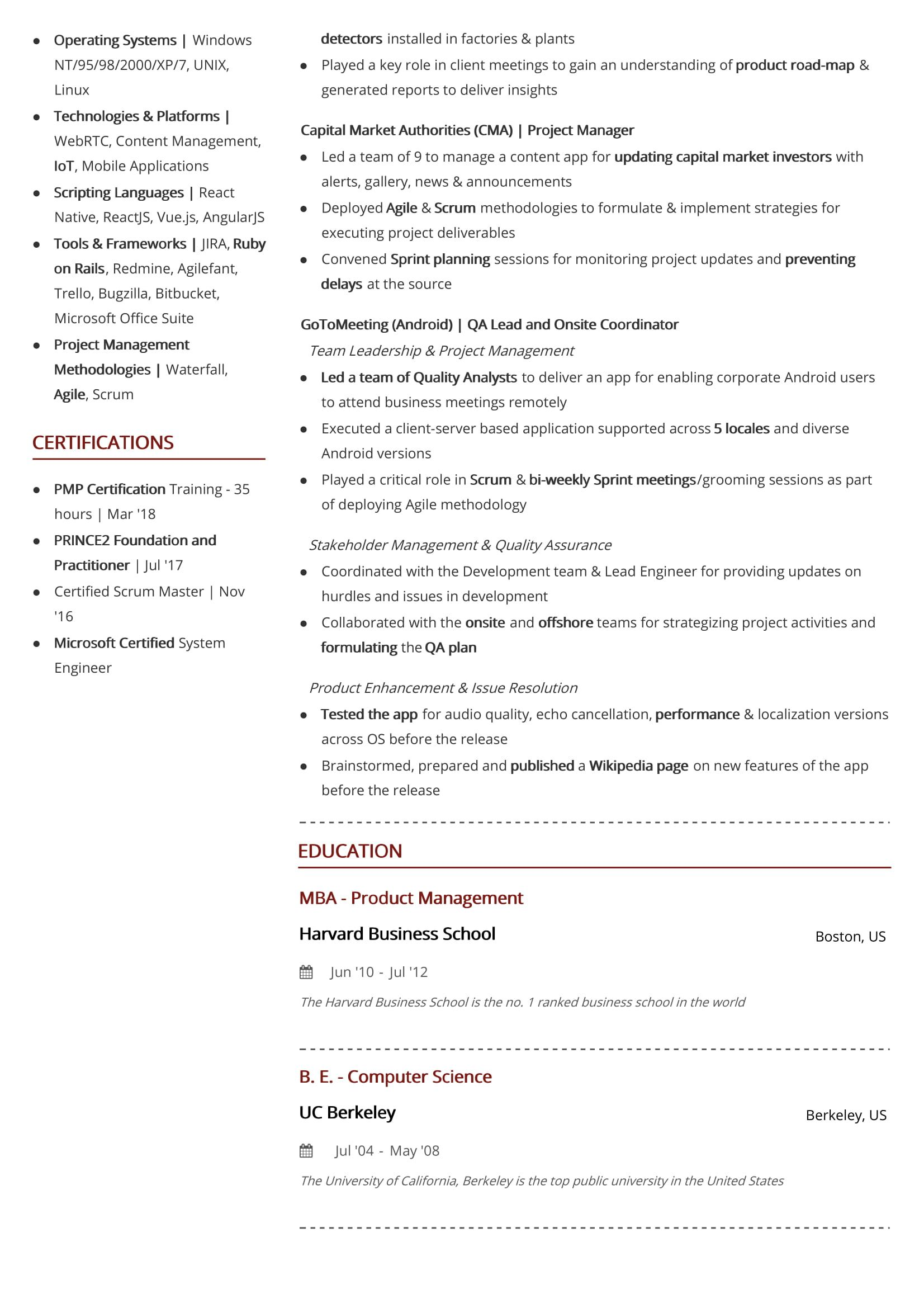 two page resume format  2019 examples  u0026 guide