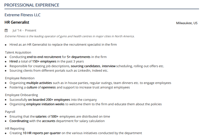 Human Resources Resume Examples Complete 2020 Guide 50 Samples