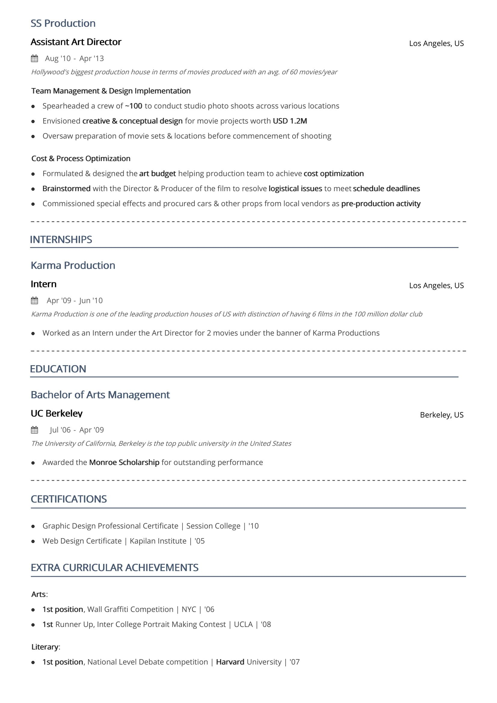 Two Page Resume Format 2020 Examples Guide