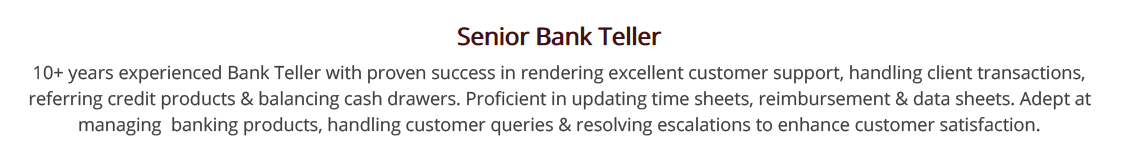 Bank_Teller_Resume_Summary