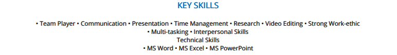 High_School_Resume_Key-Skills