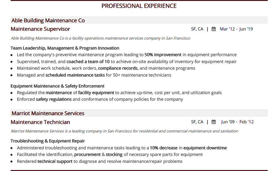 Maintenance_Resume_Professional_Experience_Section-1