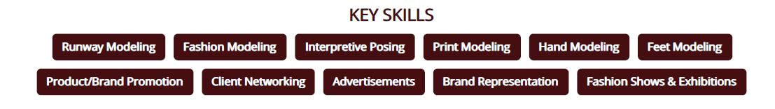 Model_Resume_Key_Skills
