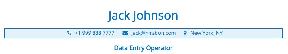 data-entry-resume-header