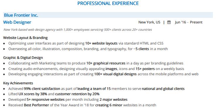 web-designer-resume-professional-experience