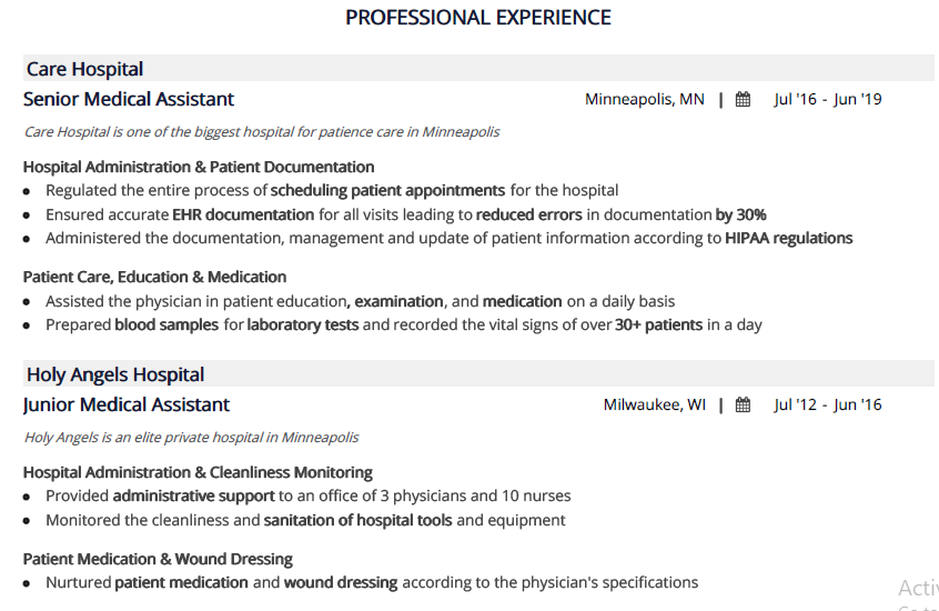 Medical_Assistant_Professional_Experience