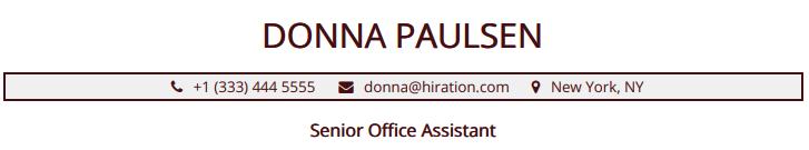 office-assistant-resume-header