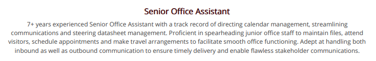 office-assistant-resume-summary