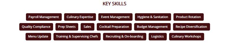 Chef-resume-key-skills
