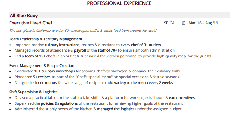 Chef-resume-professional-experience